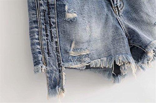 Noir en Trou Femme Culotte Jeans Dechir Haute Large FuweiEncore Shorts Taille Vintage 6xPn0qXqR