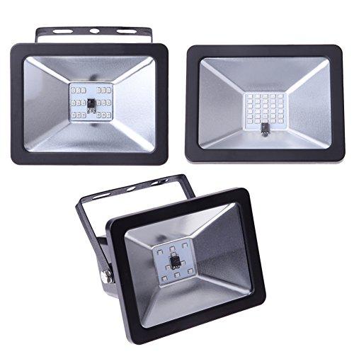 265 Projector Lamp - BIN BON - 10/20/30W SMD 2835 Waterproof IP66 AC85-265V RGB LED Spotlight Garden Outdoor Floodlight Wall Lighting Projectors Lamp