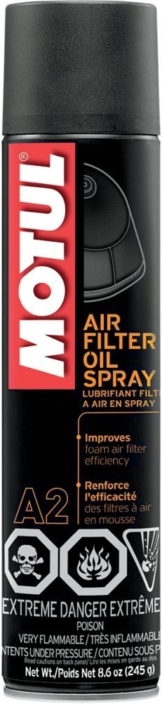 Motul 103248-CS Air Filter Oil Spray(8.6Oz), 8.6 fl. oz, 12 Pack by Motul