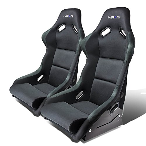 Pair of RST118BK Racing Seats+Mounting Bracket for Ford Mustang SN95