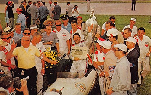 (Postcard Rodger Ward 1959 Victory Lane Indy 500 Race Indianapolis Indiana~118187)