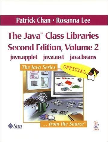 The Java Class Libraries, Volume 2: java.applet, java.awt, java.beans