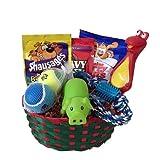 Dog Puppy Gift Box Basket Set Treat Crew Toys