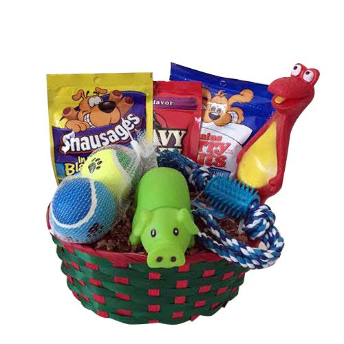 Dog Puppy Gift Box Basket Set Treat Crew Toys Package