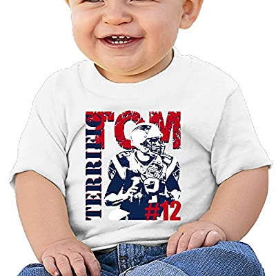 Bro-Custom Tom #12 Brady Children Custom Tee White Size 12 Months