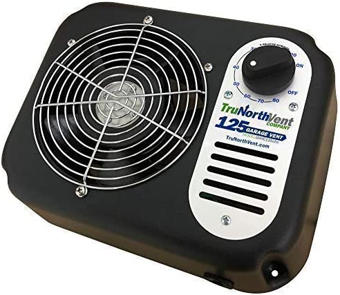 Garage Vent 125 CFM | Improve air Quality and rid Your Garage of unwanted Moisture, Humidity, Mold, Mildew, Odor, and contaminants