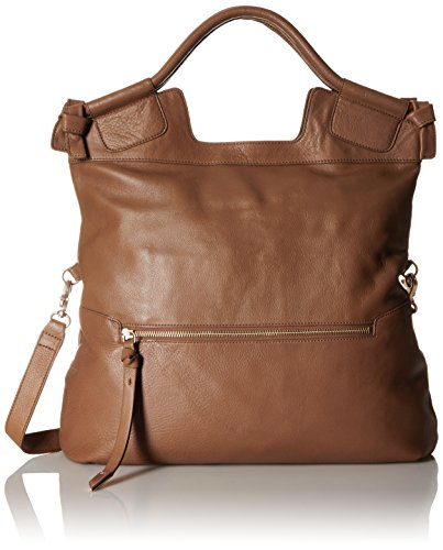 Foley + Corinna Mid City Tote Convertible Cross Body, Chestnut, One Size (Foley Corinna Handbags Mid City Tote)