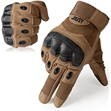 JIUSY Touch Screen Military Rubber Hard Knuckle Tactical Gloves Full Finger Cycling Motorcycle Gloves