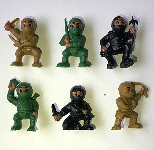 40 Camouflage Black Green Brown Ninjas Camo Warriors Fighters Figures Cupcake Cake Toppers Ninja Kung Fu Guys Martial Arts Army Men Lot Party Favors