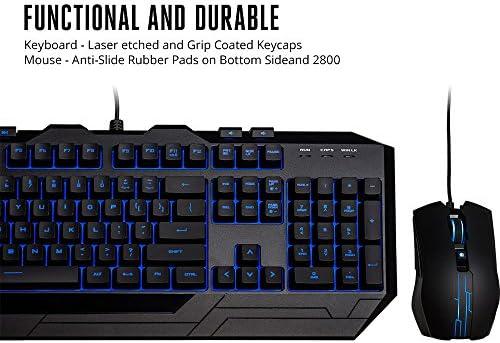 Cooler Master Devastator 3 - Combo de teclado y mouse para juegos, retroiluminación LED de 7 modos de color, teclas multimedia, configuración de 4 DPI 8