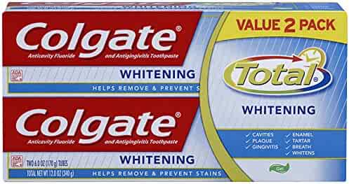 Colgate Total Whitening Gel Toothpaste - 12 ounce (Twin Pack)