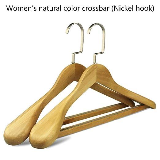 Colgadores de ropa de madera,2 piezas antideslizante Traje ...