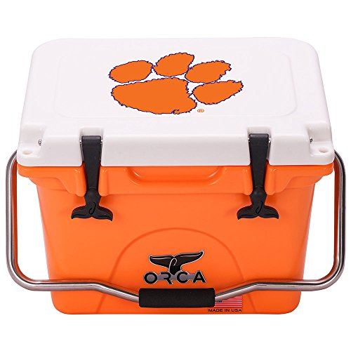 ORCA 20 Cooler Clemson University, Orange/White