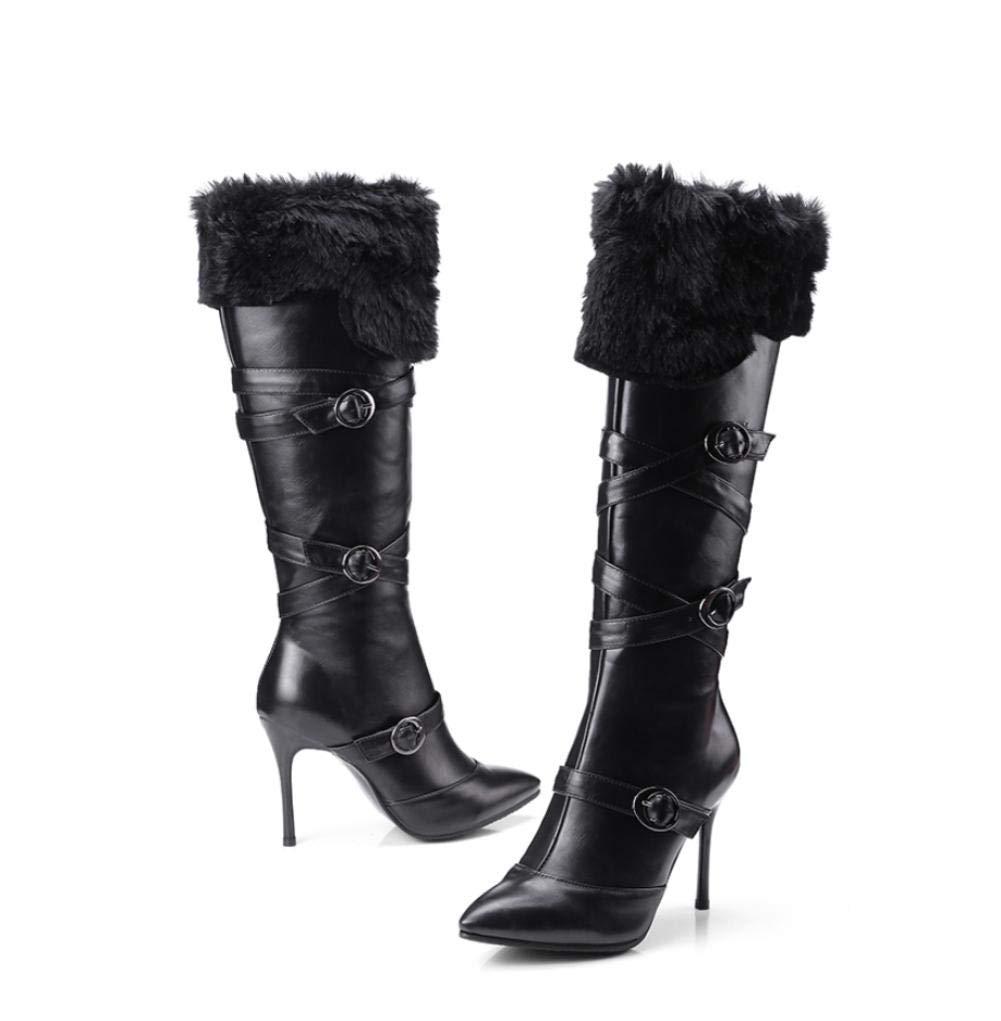 NVXUEZIX Damen Schuhe Leder Winter Modische Stiefel Stiefeletten Komfort Neuheit Stiefel Stiefelies Stiefeletten Schnalle Für Hochzeit Normal Weiß, us6.5-7   eu37   uk4.5-5   cn37