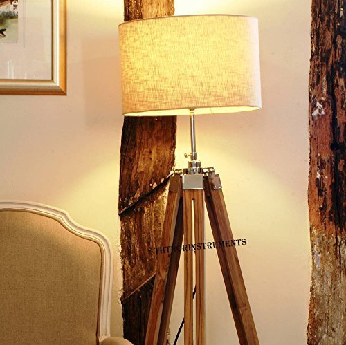 Buy floor lamp wood tripod