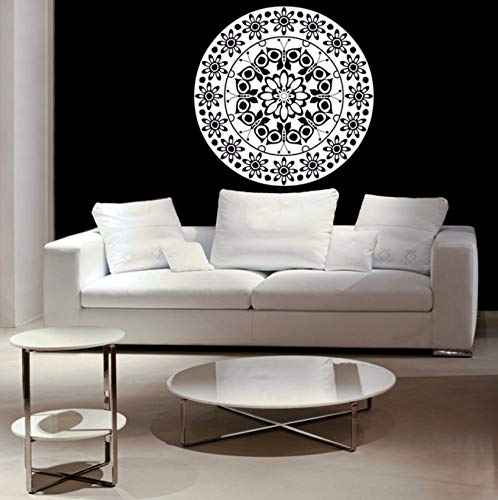 Pbldb 57X57Cm Butterfly Pattern Mandala Flower Wall Decal Daisy Medallion Vinyl Wall Stickers for Kids Rooms Nursery Home Decor Art ()