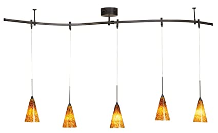 Pro track bronze 175 watt five light monorail pendant kit pro track174 bronze 175 watt five light monorail pendant kit mozeypictures Image collections