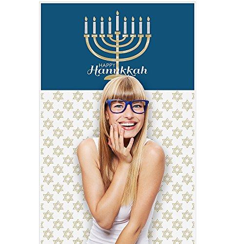 Happy Hanukkah - Chanukah Party Photo Booth Backdrop - 36
