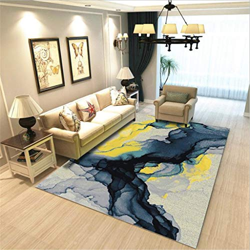 YOVOLY Bohemia Style Washable Carpet Rug for Living Room Modern Printing Geometric Floor Rug Carpet for Parlor Mat Bedroom Washroom
