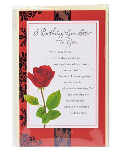 American Greetings Love Letter Birthday Card for Sweetheart Photo #4