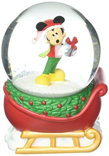 Department 56 Disney Mickey on a Sleigh Waterball Snowglobe