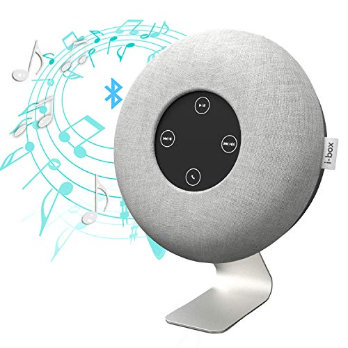 Bluetooth Speaker, Portable Wireless Bookshelf Speaker, 10W Stereo Speaker Long Time Playback, Support 3.5mm Aux Input, Volume +/-, Play/Pause, Handsfree Call Buttons- Elegant Design (Grey-CosmoWave)