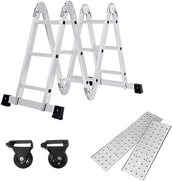 SAILUN® 6 en 1 Escalera de Tijera 3.4M Escalera Multifunción Plegable Escalera Articulada con Plataforma 4x3 Escalera de aluminio Escalera combinada de alta calidad, Cargable hasta 150 kg: Amazon.es: Iluminación