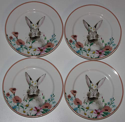 Ciroa Easter Parade Bunny Canape/Dessert Plates - 5-3/4