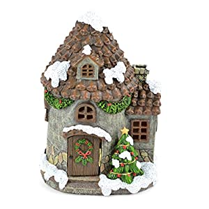 Touch of Nature LED Christmas Pine House 10.5inch 40