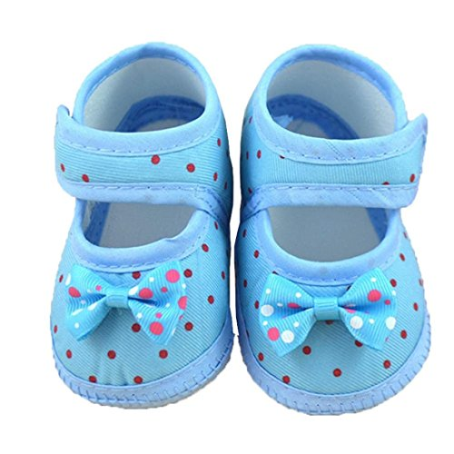 Hot Sale ! Kstare Baby Bowknot Crib Shoes- Premium Soft Sole Boys and Girls Shoes For Infants, Babies, Toddlers (3~6 M, Blue)