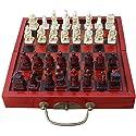 Dovewill 1セット ヴィンテージ 中国 チェス 木製 ミニチュア チェスボード ピース の商品画像