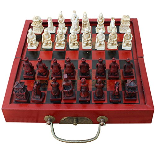 Fenteer 折り畳み アンティーク 中国チェス ボードゲーム 木製 チェスピース セット