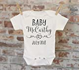 Simple Hearts Pregnancy Reveal Onesie®, Reveal to Husband, Pregnancy Announcement, Customized Onesie, Coming Soon Onesie