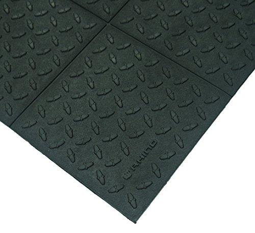 K-Series Solid Cushion Diamond Pattern with Bevels Anti Fatigue Mat, 3' x 3', 0.7