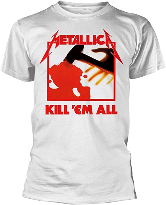 Metallica Kill Em All (Blanco) Camiseta: Amazon.es: Ropa y accesorios