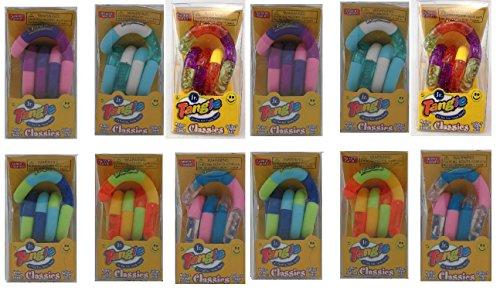 (TANGLE Set of 12 Jr. Original Fidget Toys Colors As Shown)