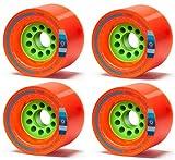 Orangatang Kegel 80mm 80a Orange Longboard Wheels Set of 4 New