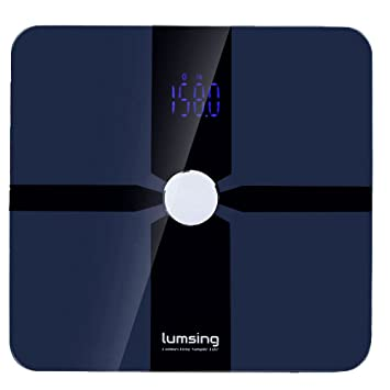 Lumsing Bluetooth Body Fat Scale-Smart Digital Bathroom Scale with APP for IOS and Android
