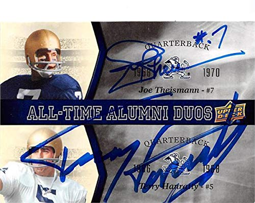Fighting Duo - Joe Theismann Terry Hanratty autographed football card (Notre Dame Fighting Irish) 2013 Upper Deck All Time Alumni Duos #ATADTH