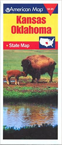 State Map Of Kansas And Oklahoma.American Map Kansas Oklahoma State Map American Map Corporation