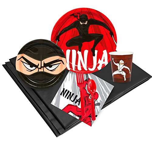 Ninja Warrior Party Supplies - Party Pack for 16