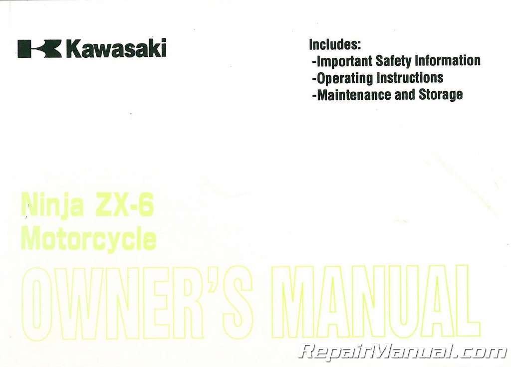 Read Online 99920-1985-01 2001 Kawasaki ZX600E9 Ninja ZX-6 Motorcycle Owners Manual pdf epub