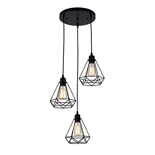 3 Lámpara industrial Colgante Techo Vintage comeonlight® de P80kOnXw