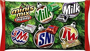 MARS Chocolate Holiday Minis Size Candy Bars Variety Mix 17.5-Ounce Bag