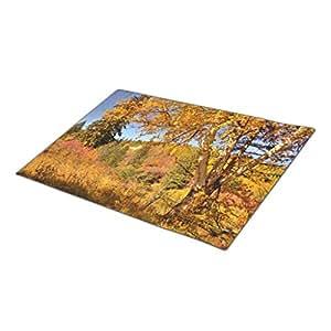 Autumn Colors Woodlands Monogrammed Door Mat Outdoor Floor Mats