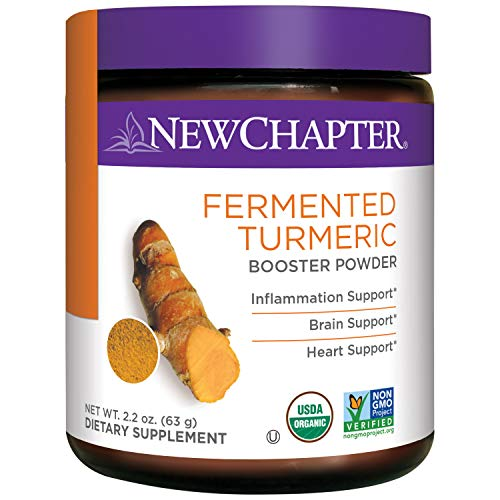 Cheap New Chapter Organic Turmeric Powder – Fermented Turmeric Booster Powder for Brain, Heart and Inflammation Support – 45 Servings
