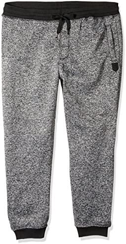 Southpole Men's Basic Fleece Marled Jogger Pant-Reg and Big & Tall Sizes