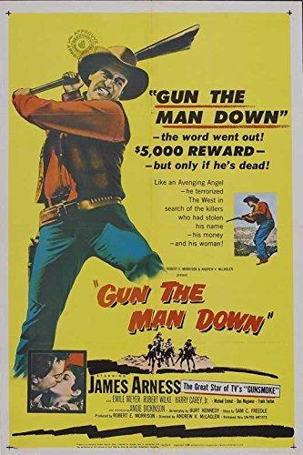 Gun the Man Down Bill Movie 11 x 17 Inches - 28cm x 44cm James Arness Angie Dickinson Robert J. Wilke Emile Meyer Don Megowan