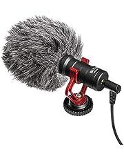 ميكروفون على الكاميرا، بويا MM1 ميكروفون متعدد الاستخدامات لهاتف آيفون X 8 8 Plus 7 6 6s، DSLR، تابلت، كاميرا، المستهلك، كاميرا الفيديو، مسجلات صوتية.