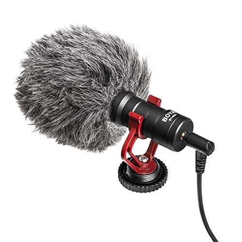 On-Camera Microphone, BOYA MM1 Universal Cardioid Mic for iPhone X 8 8 Plus 7 6 6s, DSLR, Tablets, Camera, Consumer, Camcorder, Audio Recorders